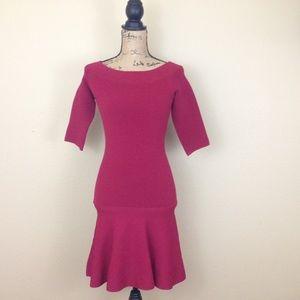 BB Dakota Red Sweater Bodycon Midi Dress